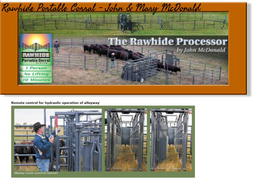 Rawhide Portable Corral - John & Mary McDonald